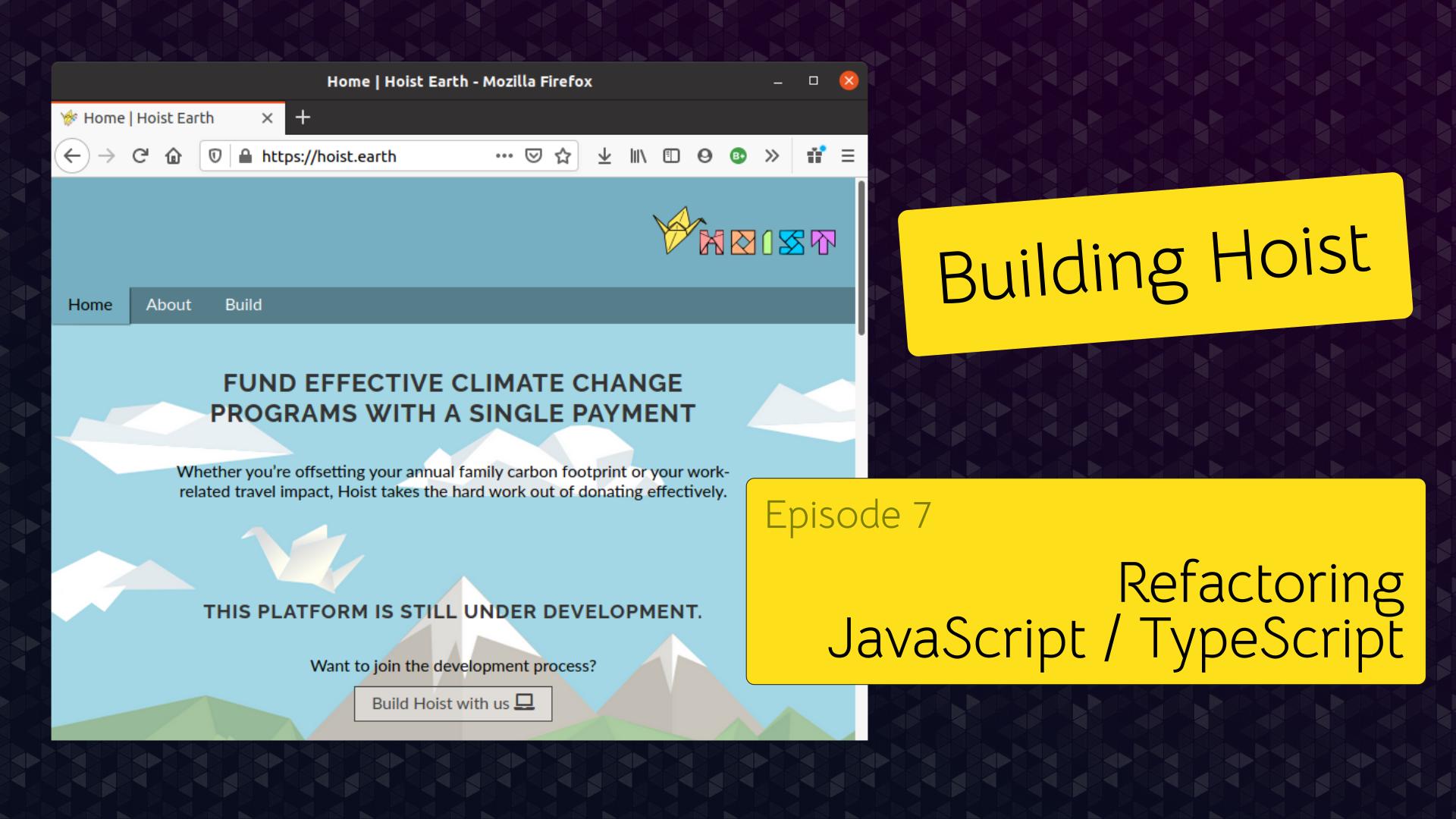 Episode null - Refactoring JavaScript / TypeScript