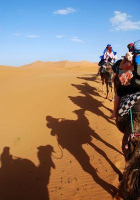escursione in cammello merzouga