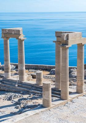visita all acropoli di lindos