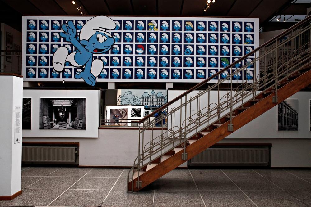 sala puffi museo del fumetto bruxelles