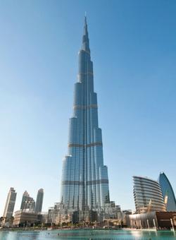 Vista panoramica del Burj Khalifa