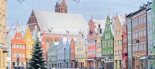 casette colorate germania monaco di baviera in inverno