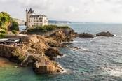 casa sugli scogli di biarritz