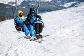 piste da sci a saas fee svizzera