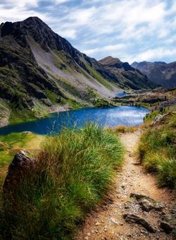 lago nel parc national du mercantour