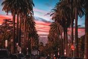 Strada panoramica con vista sulla scritta Hollywood