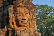 tempio con faccia sorridente di angkor wat