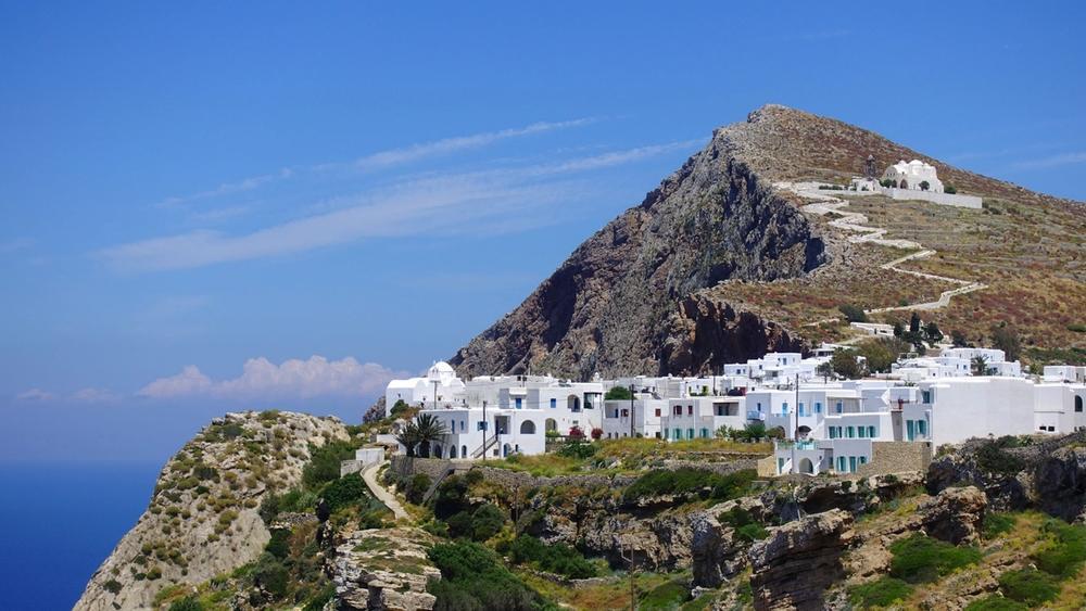 villaggio di ano meria isola di folegandros in grecia
