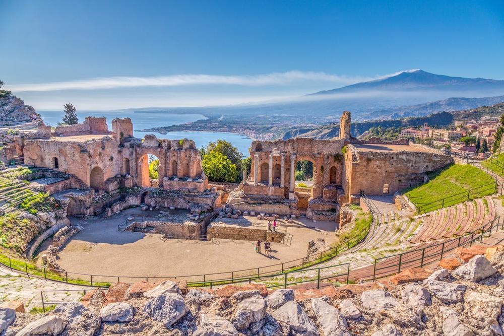 antico teatro greco romano di taormina