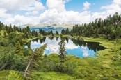 lago di colbricon sulle dolomiti