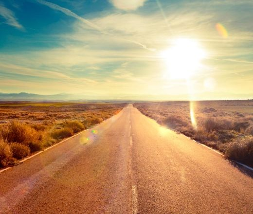 strada panoramica nel deserto