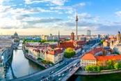 vista aerea sulla città di berlino