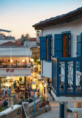 villaggio di afitos in grecia