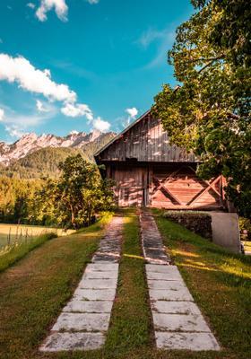 casetta di legno a tarvisio