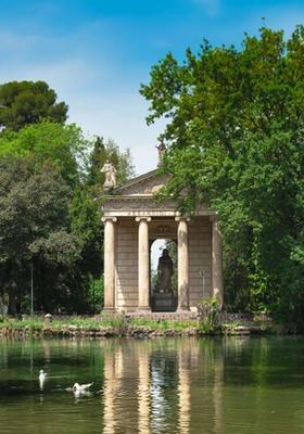 Parco di Villa Borghese a Roma
