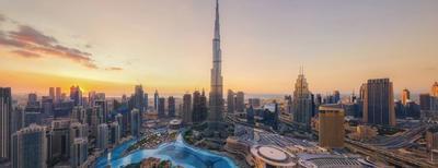 Vista panoramica sulla città di Dubai
