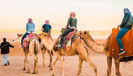 escursione con i cammelli del deserto