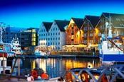 tromso di sera norvegia