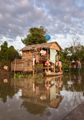 villaggio sull acqua di kompong chhnang