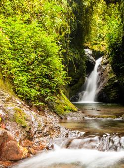 cascata nella foresta amazzonica