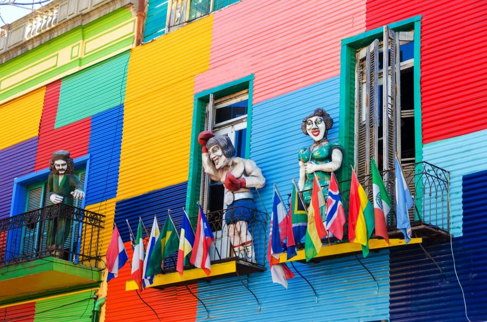 case colorate la boca buenos aires argentina