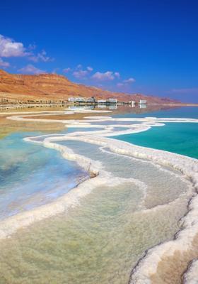 strada di sale nel mar morto