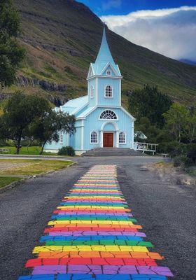 strada arcobaleno islanda