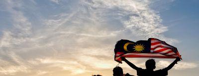 bambini bandiera malesia