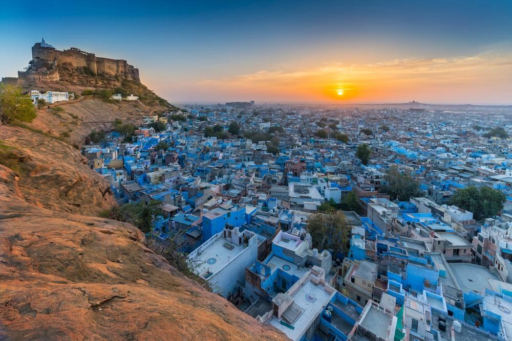 jodhpur india al tramonto