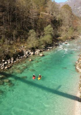 kayak sul fiume a logarska dolina
