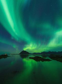 aurora boreale verde in finlandia