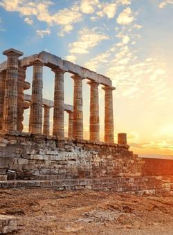 Partenone Acropoli di Atene al tramonto