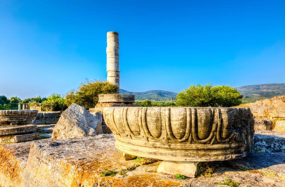 tempio di heraion a samos in grecia