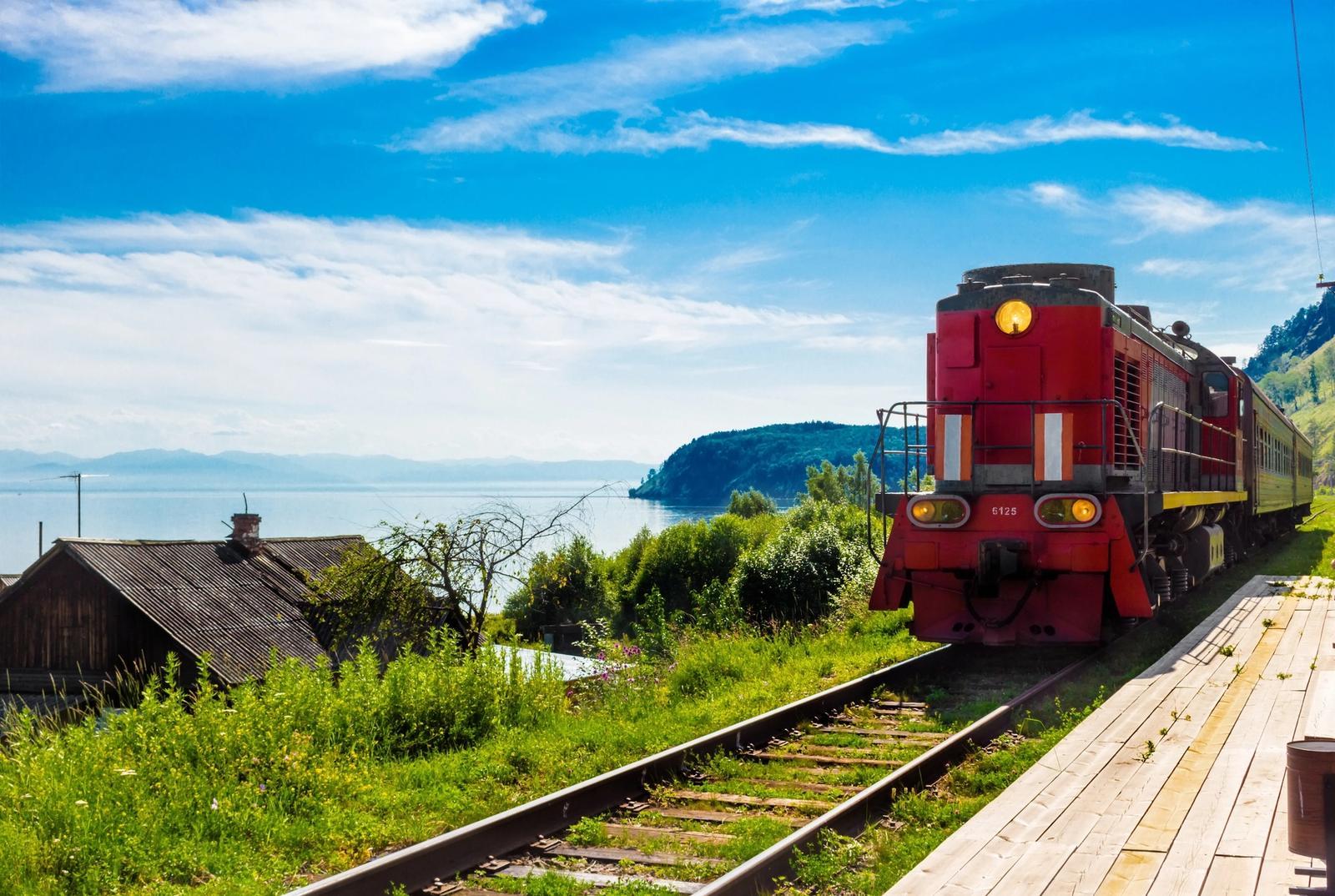 treno transiberiana in estate