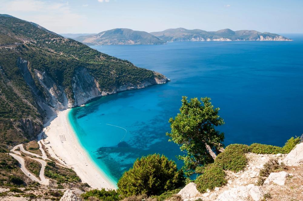 spiaggia di myrthos a cefalonia