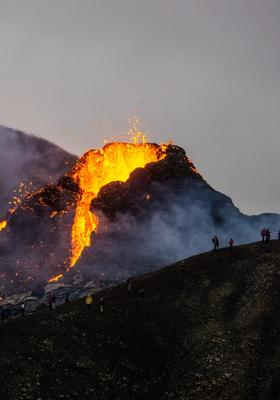 escursione eruzione vulcano di reykjanes