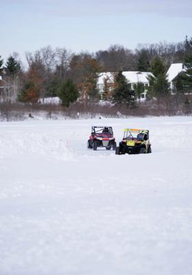 go kart nella neve