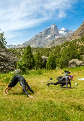 yoga relax in montagna