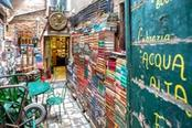 entrata libreria acqua alta venezia