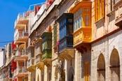 balconcini colorati di malta