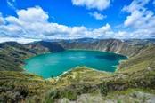 lago nel cratere quilotoa