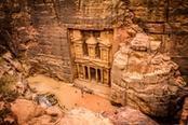 Città di Petra in Giordania