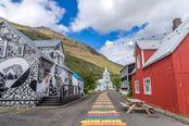 seydisfjordur rainbow street