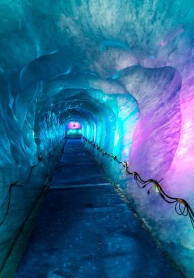 ghiacciaio colorato mer de glace