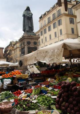 mercato alimentare di campo de fiori