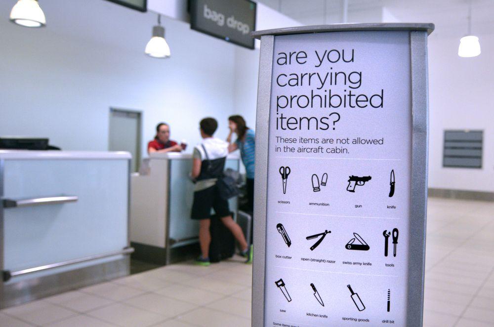 oggetti proibiti aereo