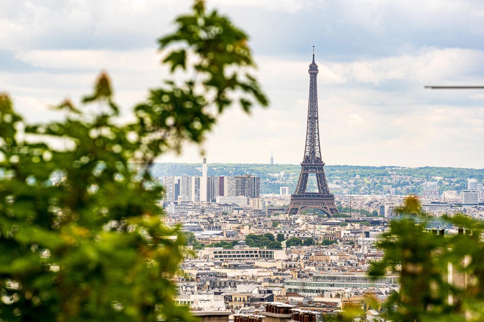 Vista panoramica sulla torre eiffel