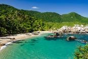 spiaggia nel parco nazionale tayrona
