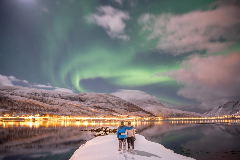 aurora boreale a tromso norvegia