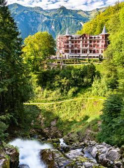 cascate di giessbach in svizzera